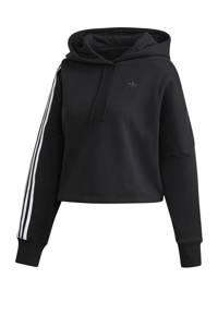 adidas Originals cropped hoodie zwart/wit, Zwart/wit