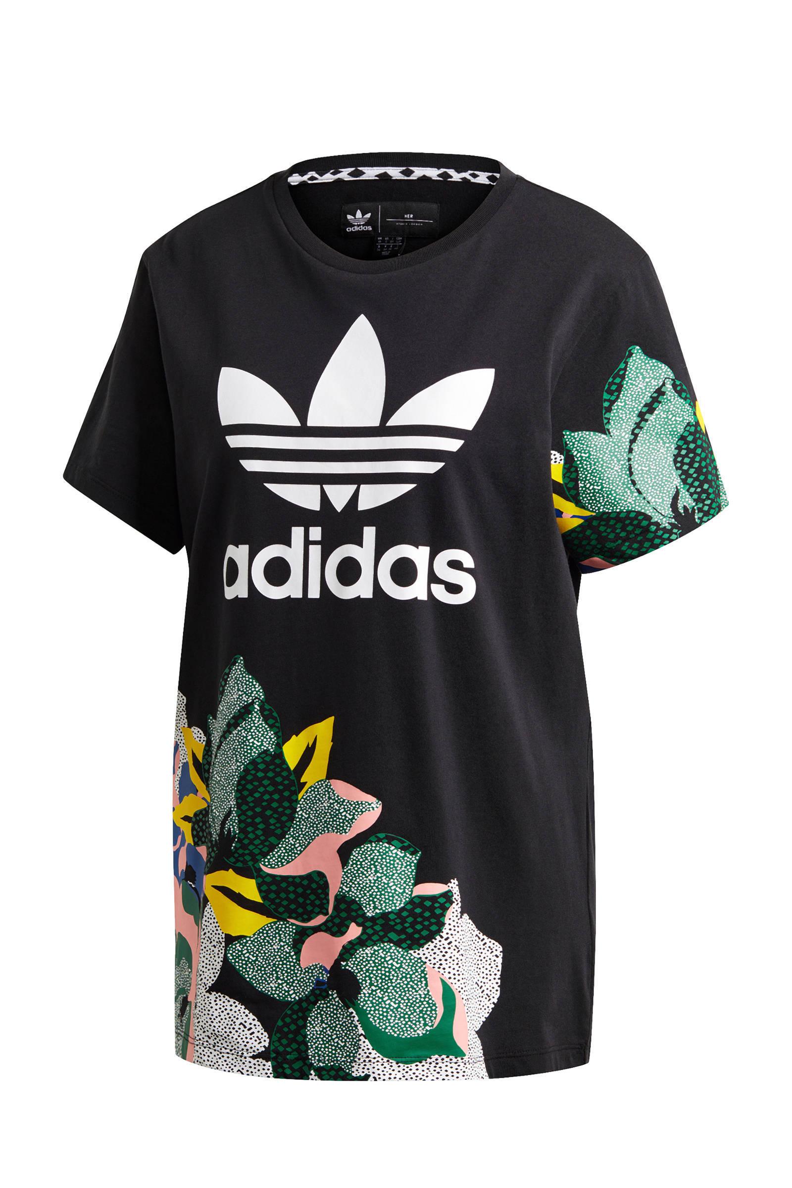 adidas Originals T shirt zwartmulti | wehkamp