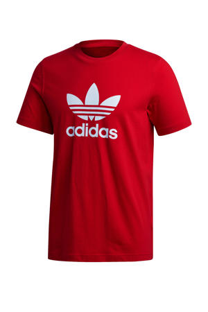 Adicolor T-shirt donkerrood