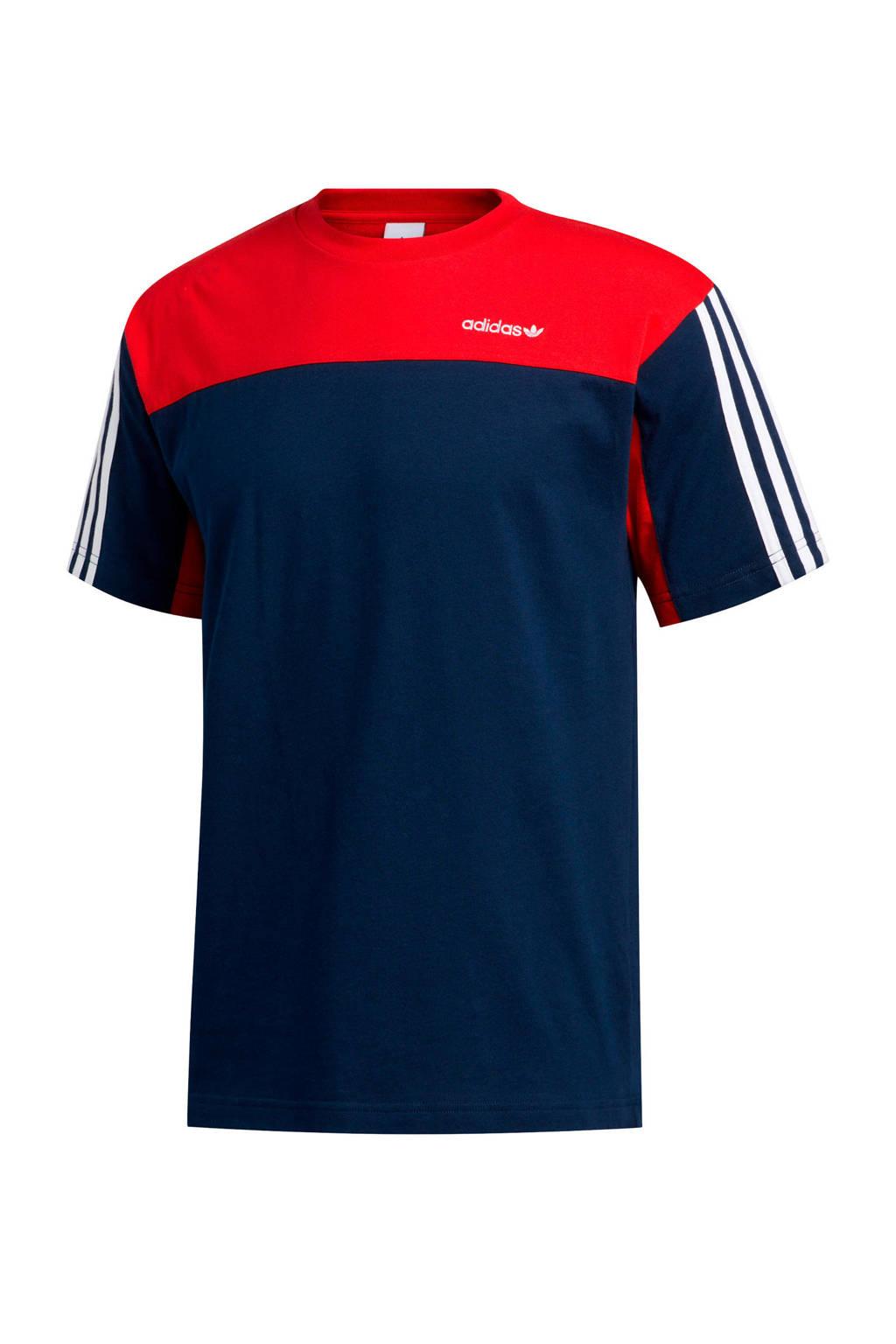 adidas Originals T-shirt donkerblauw/rood, Donkerblauw/rood