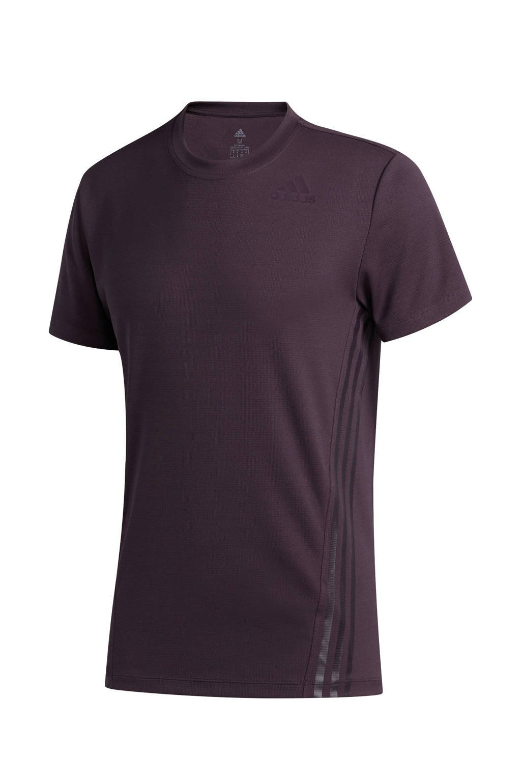 adidas Performance   sport T-shirt donkerpaars, Donkerpaars