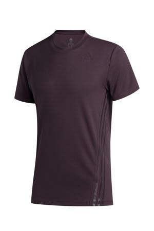 sport T-shirt donkerpaars