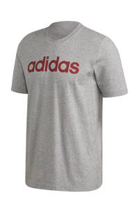 adidas Performance   sport T-shirt grijs/rood, Grijs/rood