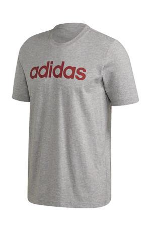 sport T-shirt grijs/rood