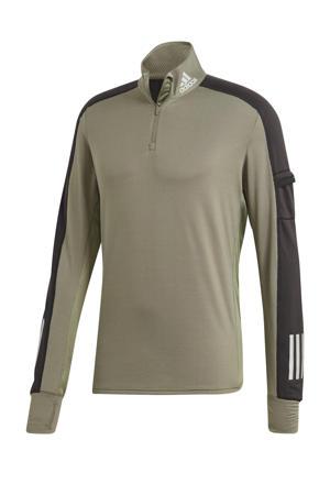 hardloopshirt groen/zwart
