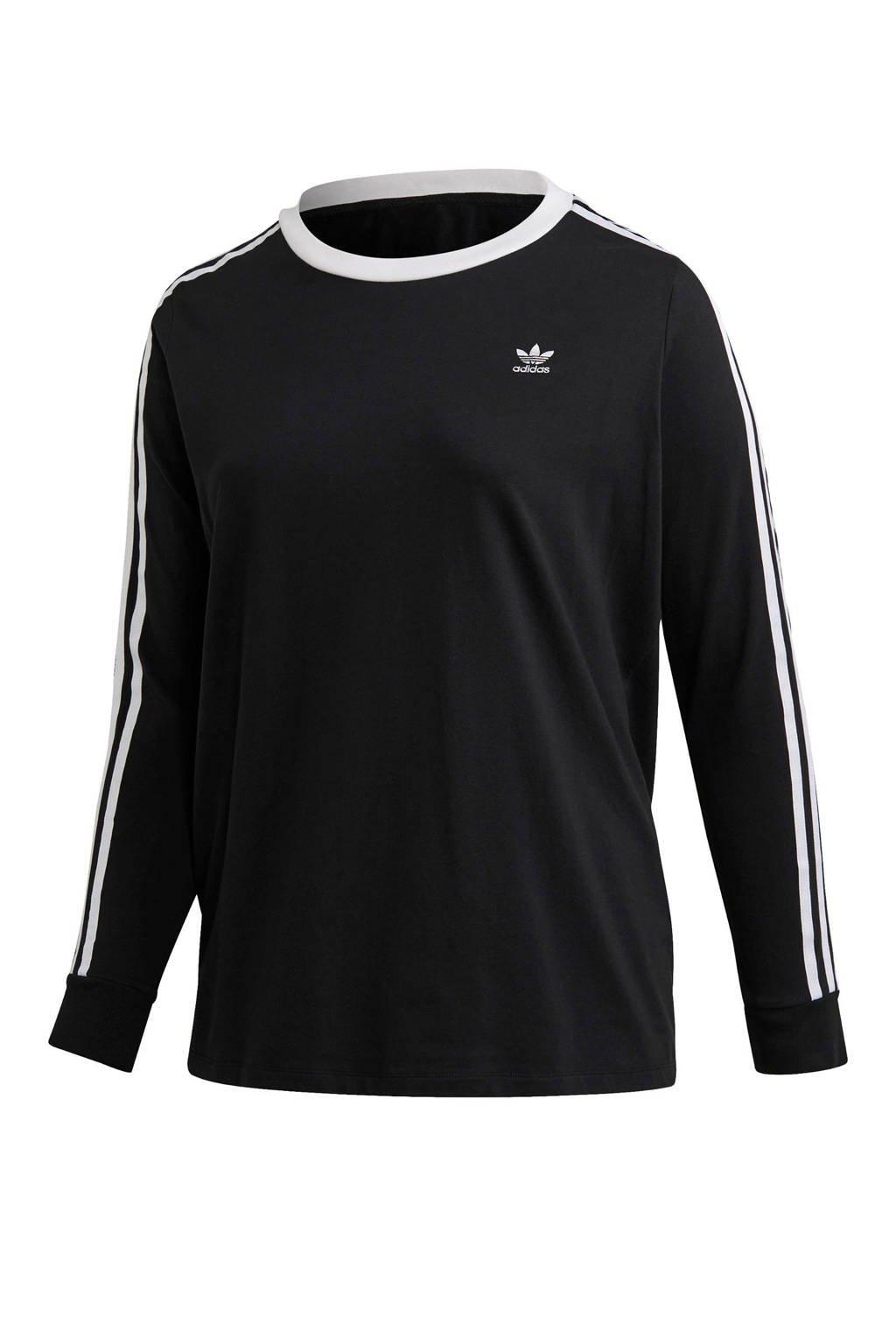 adidas Originals Adicolor Plus Size T-shirt zwart, Zwart