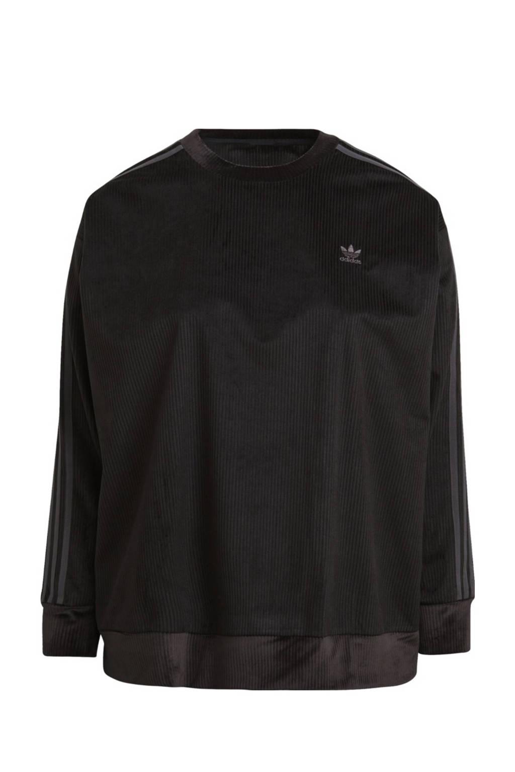 adidas Originals Plus Size Corduroy sweater zwart, Zwart