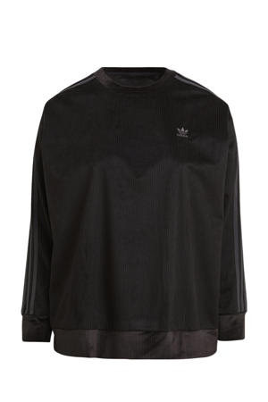 Plus Size Corduroy sweater zwart