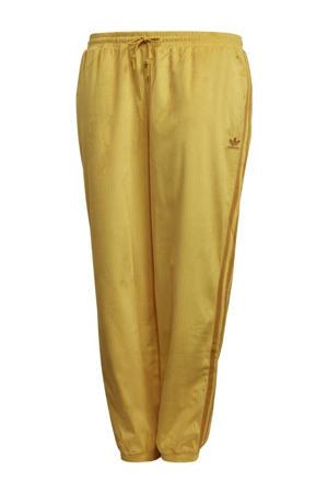 Plus Size Corduroy trainingsbroek geel