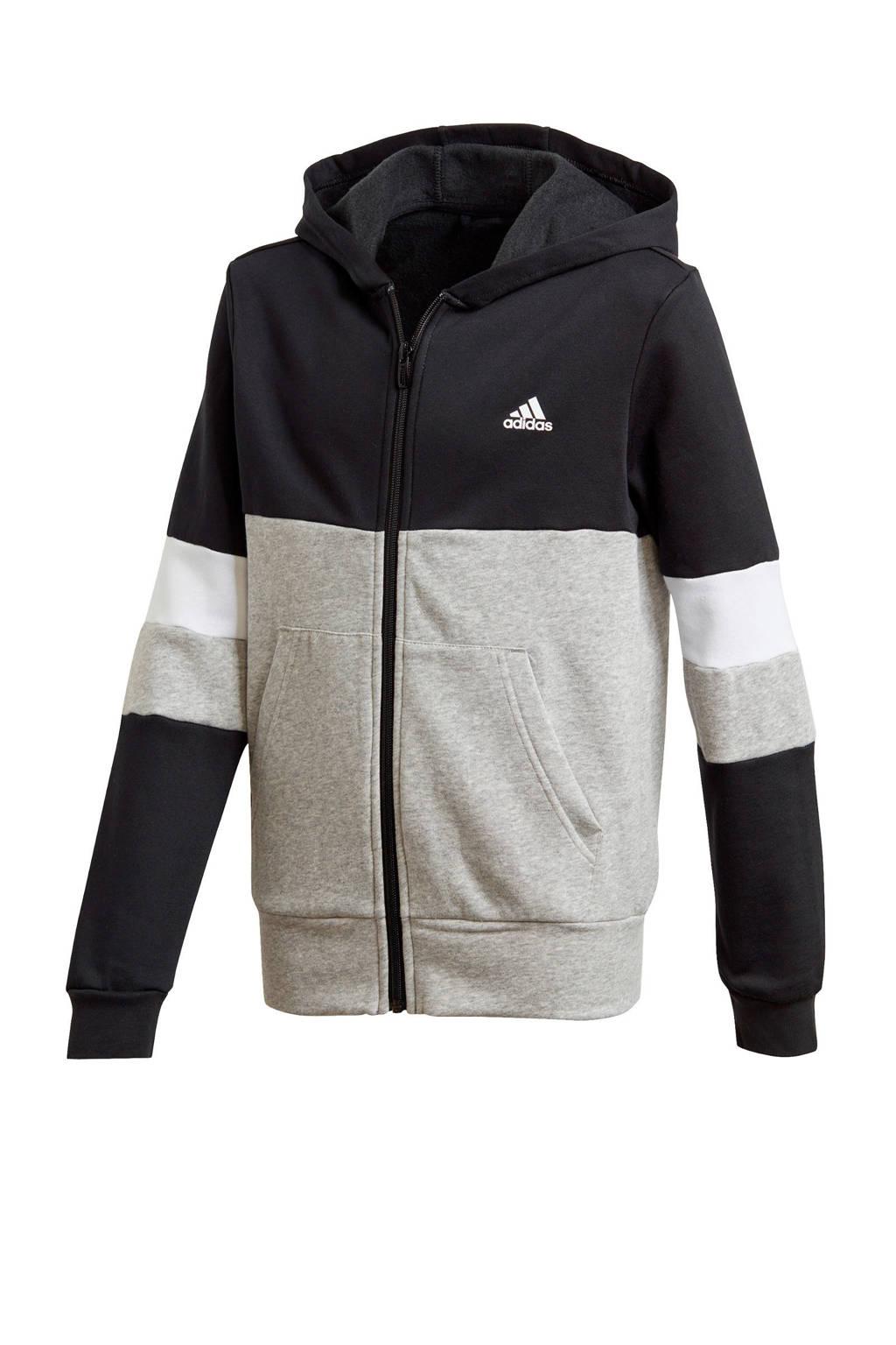 adidas Performance   sportvest zwart/grijs, Zwart/grijs