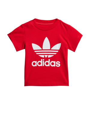 T-shirt rood/wit