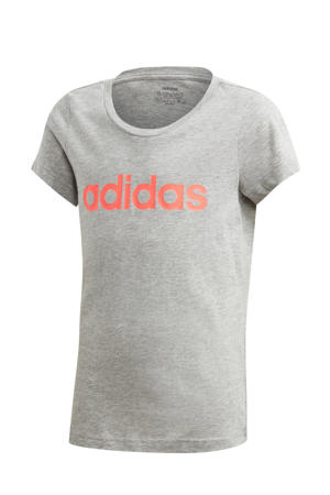 sport T-shirt grijs/oranje