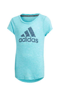 adidas Performance sport T-shirt lichtblauw/blauw, Lichtblauw/blauw