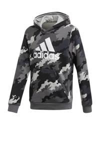 adidas Performance   sport hoodie grijs/zwart, Grijs/zwart