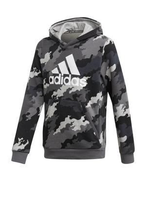 sport hoodie grijs/zwart