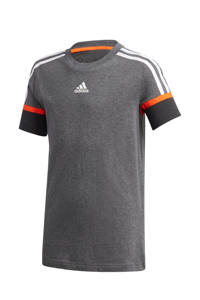 adidas Performance   sport T-shirt grijs/oranje, Grijs/oranje
