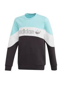 adidas Originals sweater lichtblauw/zwart, Lichtblauw/wit/zwart