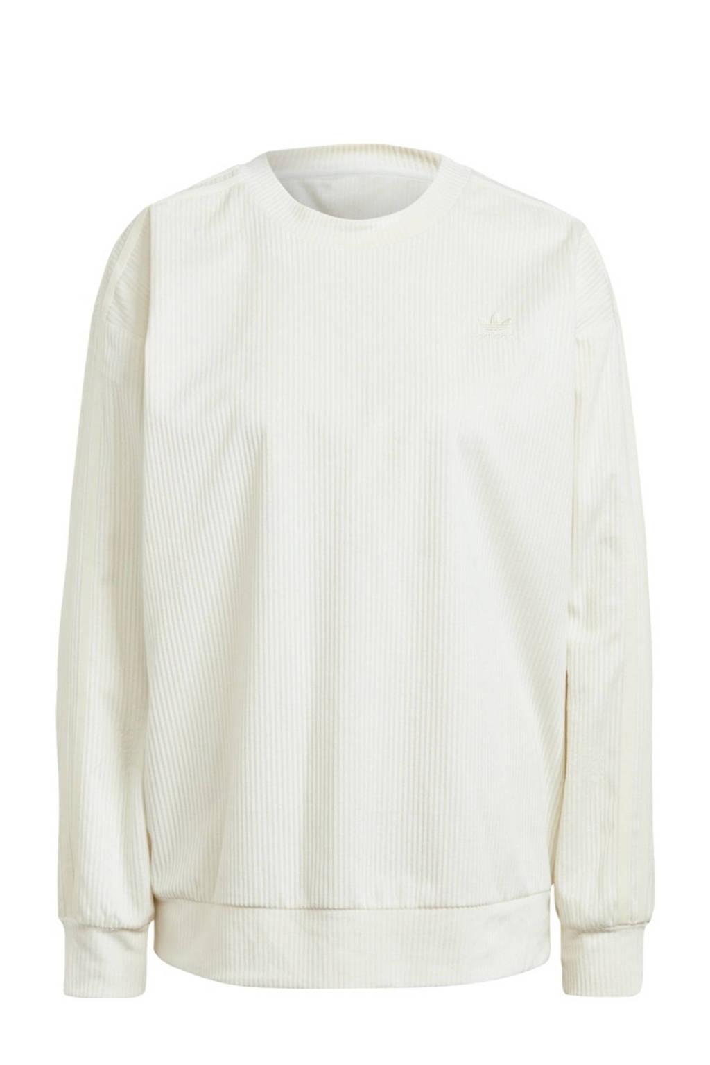 adidas Originals Corduroy sweater wit, Crème