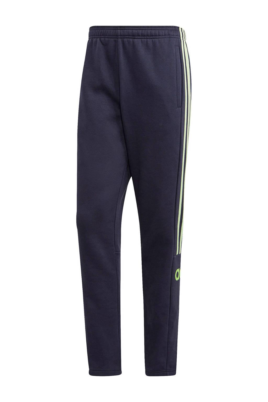 adidas Performance   joggingbroek donkerblauw/limegroen, Zwart/limegroen