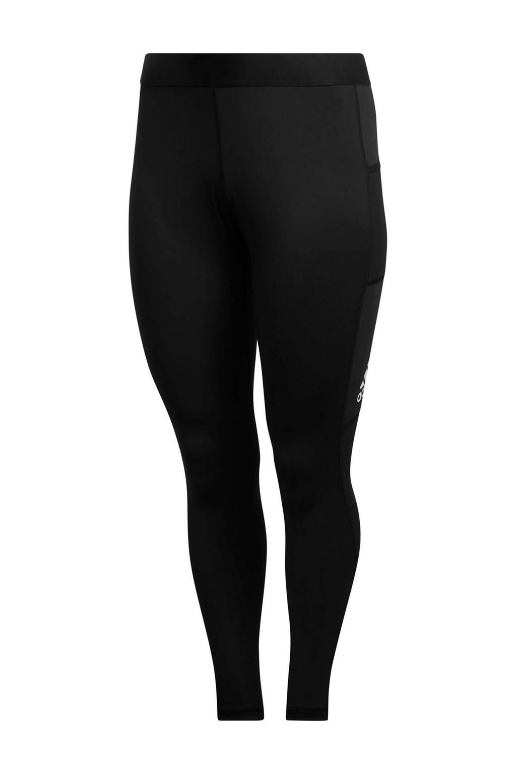 adidas Performance Plus Size sportlegging zwart, Zwart