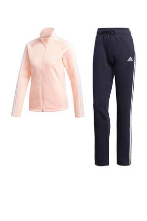 trainingspak donkerblauw/roze