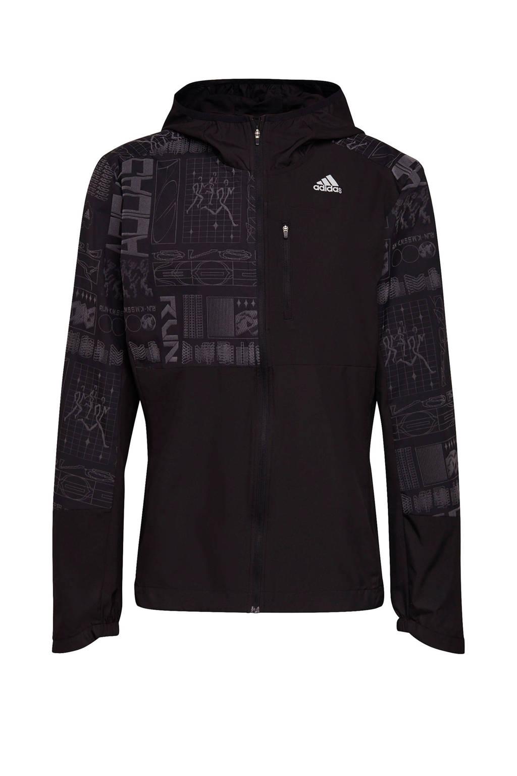 adidas Performance hardloopjack zwart, Zwart