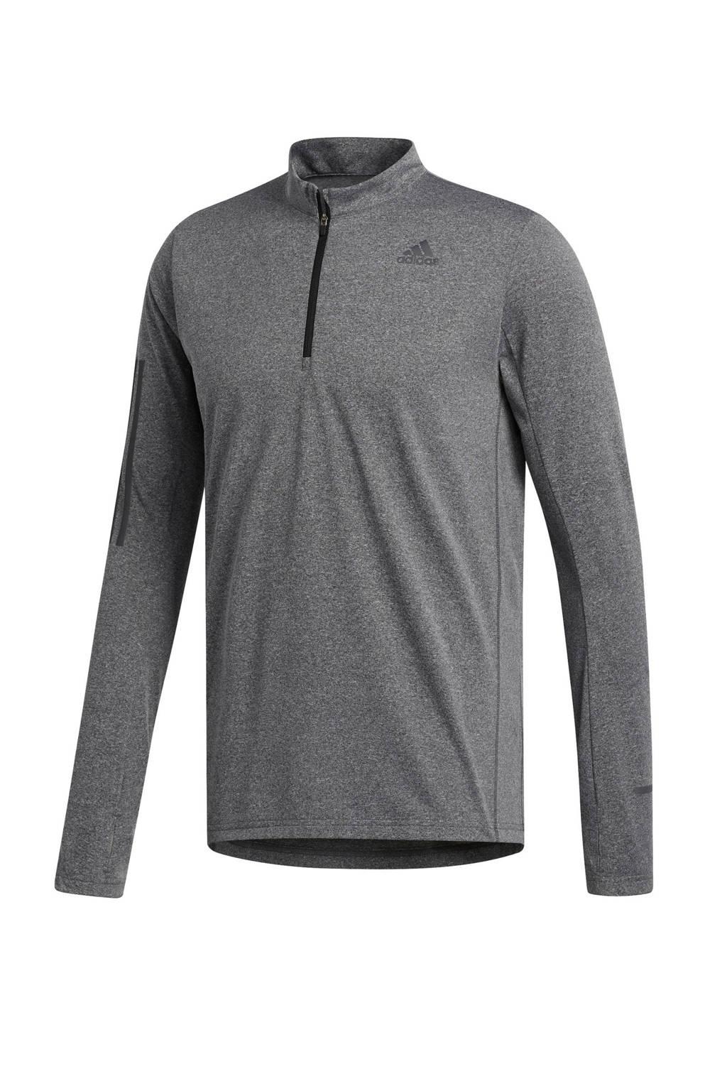adidas Performance   hardloopshirt grijs, Grijs