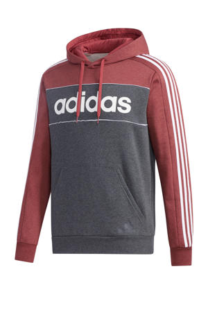 sport hoodie grijs/rood