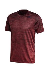 adidas Performance   sport T-shirt rood melange, Rood melange