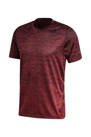 sport T-shirt rood melange