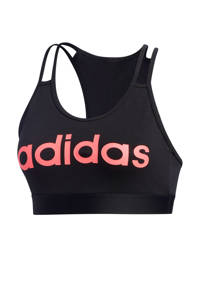 adidas Performance Level 1 sportbh zwart/roze, Zwart/roze