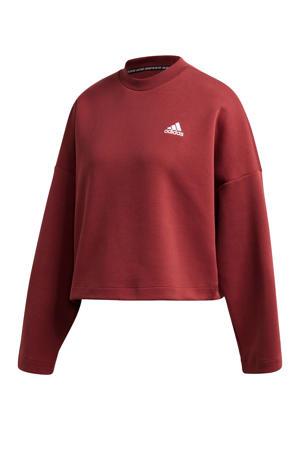 sportsweater donkerrood