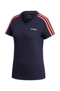 adidas Performance sport T-shirt donkerblauw/roze, Donkerblauw/roze