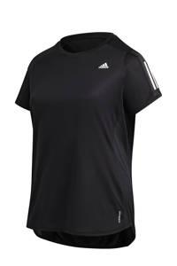 adidas Performance Plus Size Own The Run hardloop T-shirt zwart, Zwart