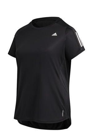 Plus Size Own The Run hardloop T-shirt zwart