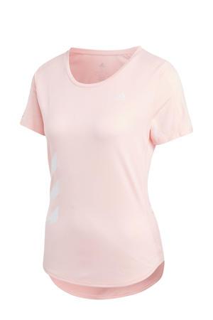 Run It hardloop T-shirt lichtroze