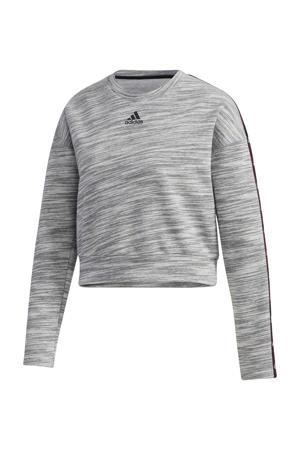 sportsweater grijs/zwart