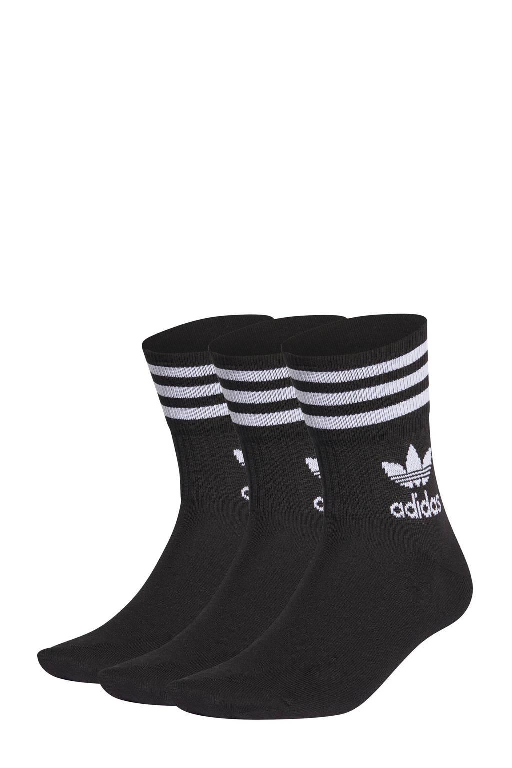 adidas Originals sokken - set van 3 zwart, Zwart