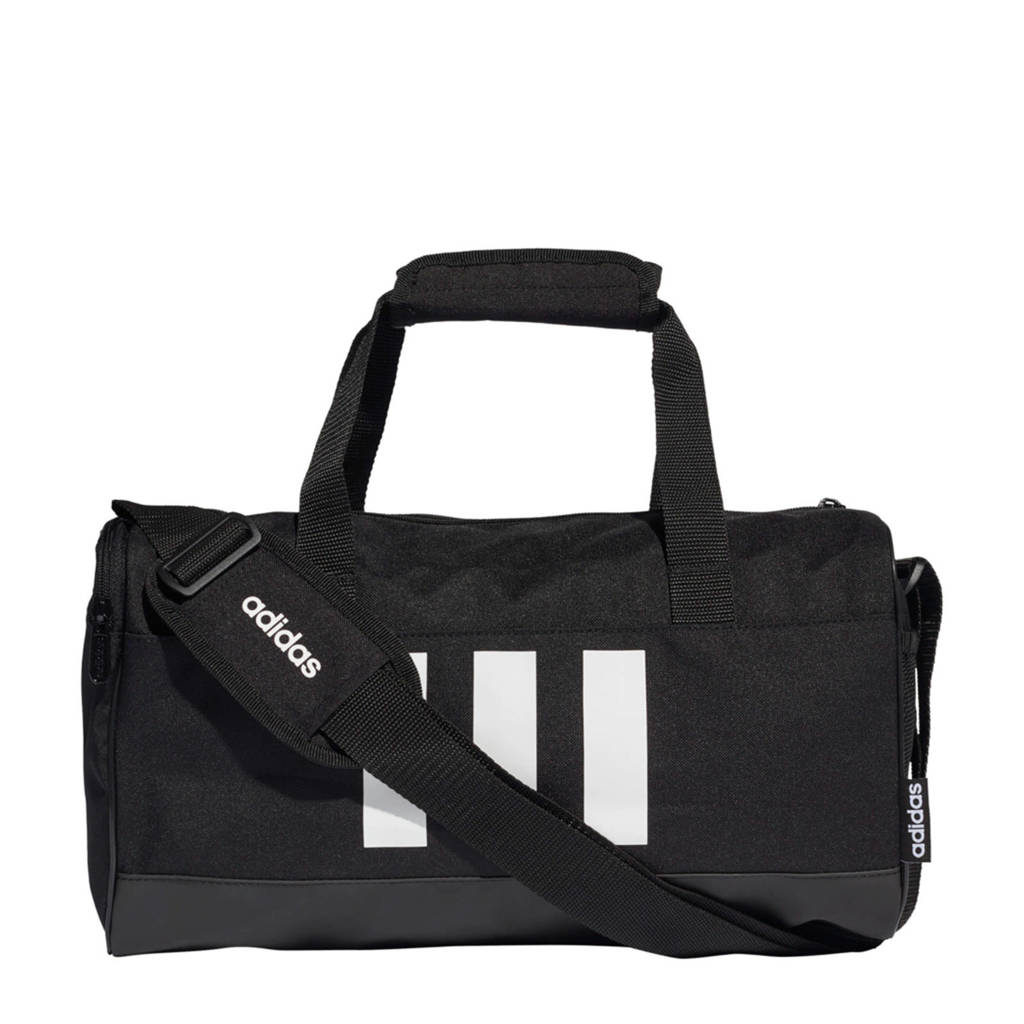 adidas Performance Junior  sporttas 3S Duf XS zwart/wit, Zwart/wit