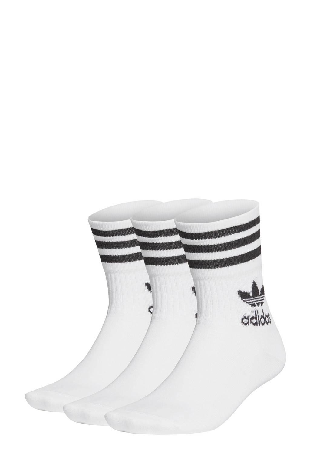 adidas Originals   sokken - set van 3 wit, Wit