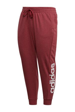 Plus Size sportbroek rood