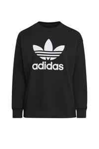 adidas Originals Plus Size sweater zwart/wit, Zwart/wit