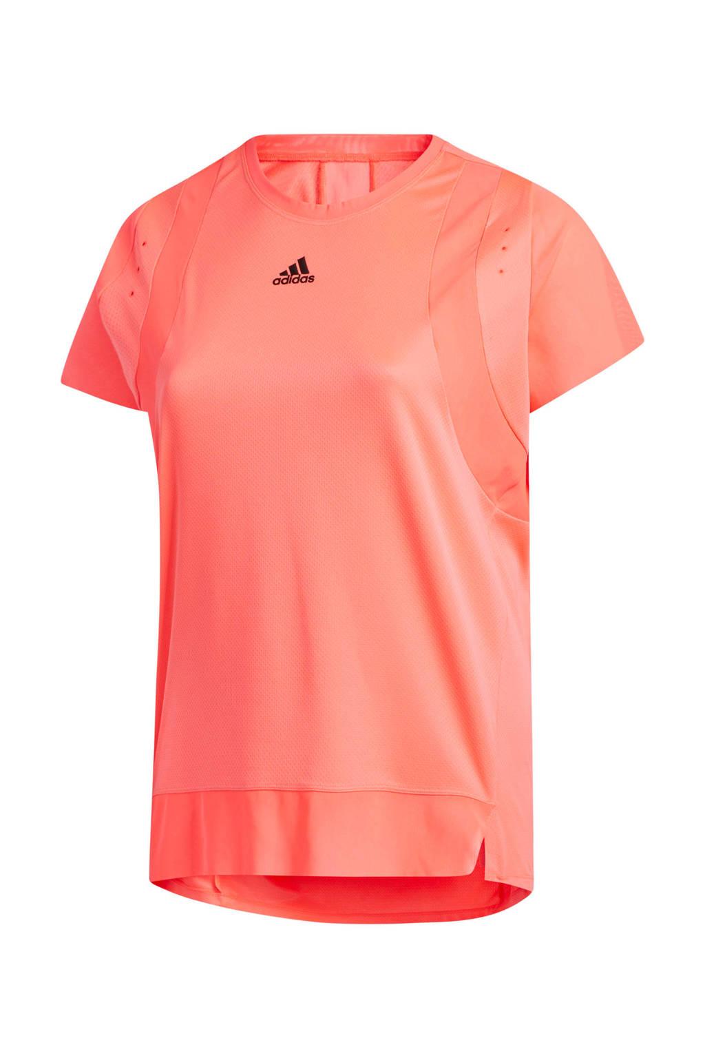 adidas Performance Plus Size sport T-shirt oranje, Oranje