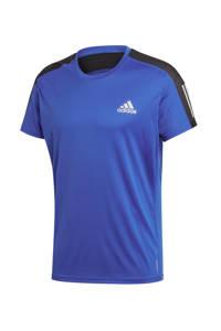 adidas Performance   hardloopshirt blauw/zwart, Blauw/zwart, Heren