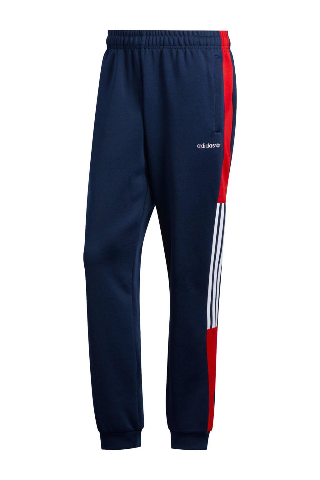 adidas Originals trainingsbroek donkerblauw/rood, Donkerblauw/rood