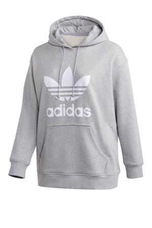 Adicolor hoodie grijs/wit