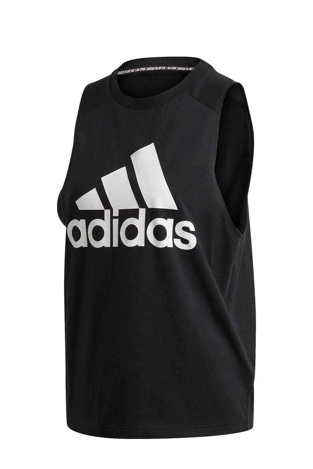 adidas Performance sporttop zwart/wit, Zwart