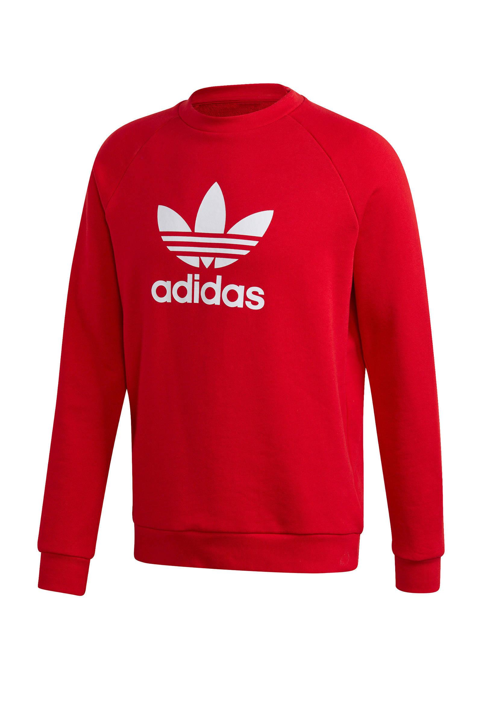 adidas Originals sweater rood | wehkamp
