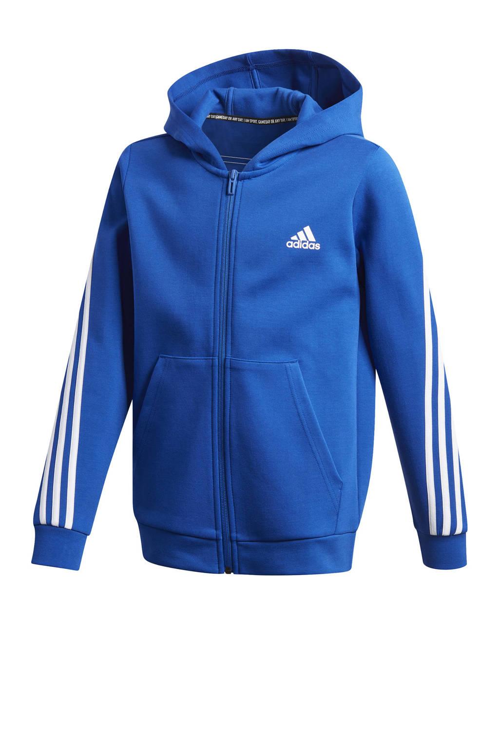 adidas Performance   sportvest kobaltblauw/wit, Kobaltblauw/wit