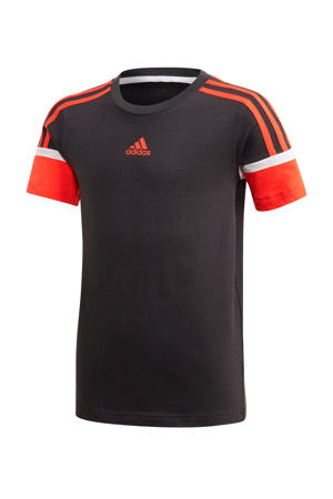 sport T-shirt zwart/rood